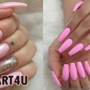 Coffin Pink Nails