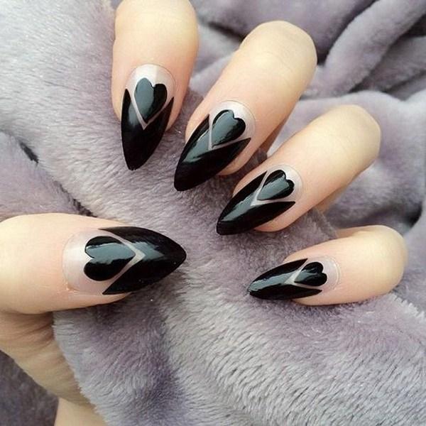 10 Elegant Black Nail Art Designs