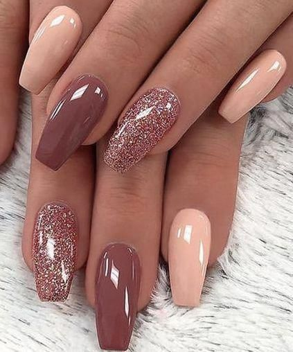 Cute nails with glitter