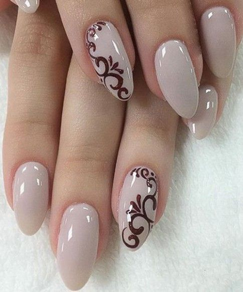 cute wedding Nail Art Design