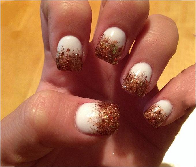 gold nail tips
