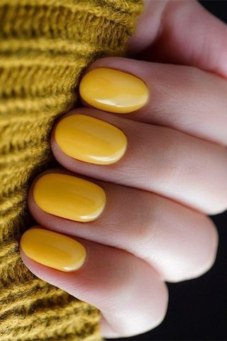Short Yellow Nails