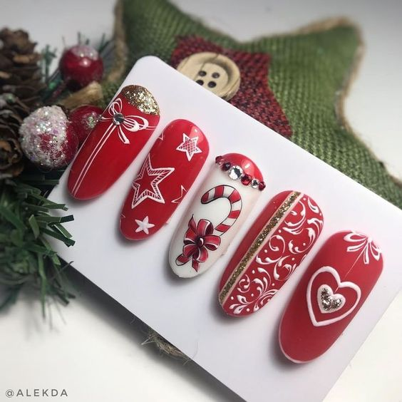 Christmas nails designs
