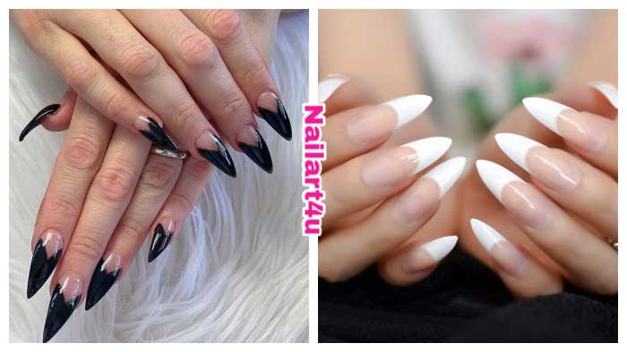 Long French Tip Nails designs