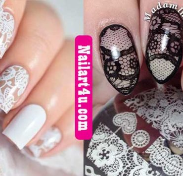 Lace Nail Art nailart4u.com