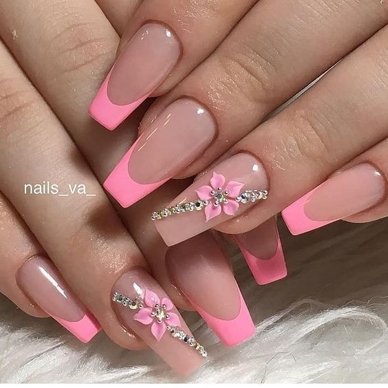 design for french tip nails