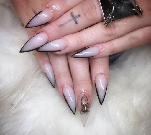 french tip nails acrylic