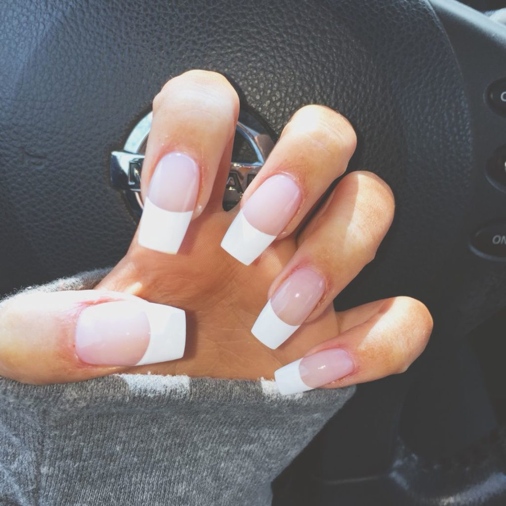 fat tip french nails