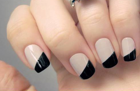 black and white short nails simple designs
