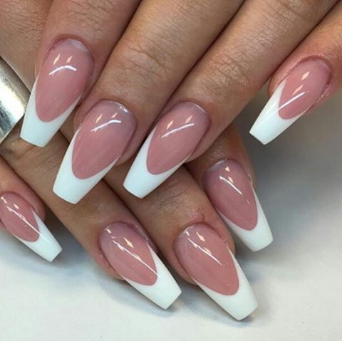 LONG FRENCH TIP NAILS IDEAS