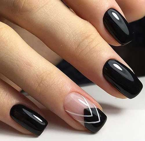 simple black nails designs