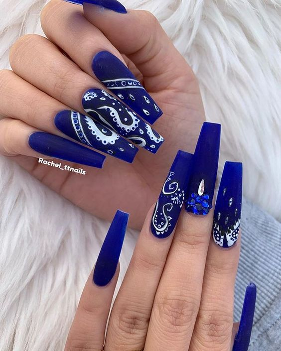 Dope Nail Designs Blue Acrylic Nails Designs
