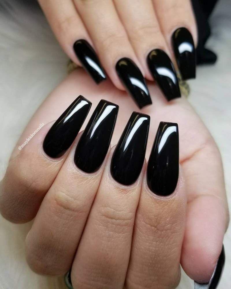 bright black coffin nails