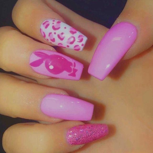 Pink Bunny Nails Design Ideas