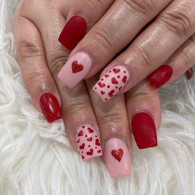 Valentines Short nails ideas