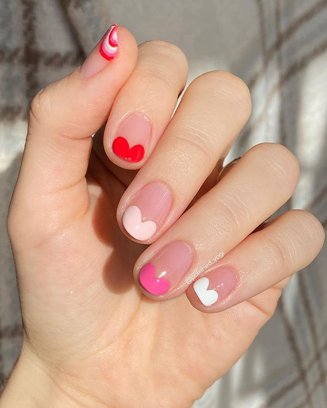 short nails designs ideas for valentines