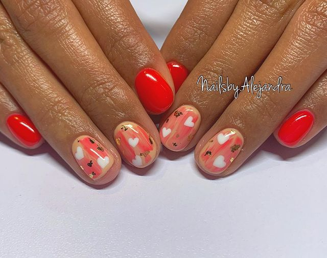 Simple and Easy Nail Design Idea for Valentines