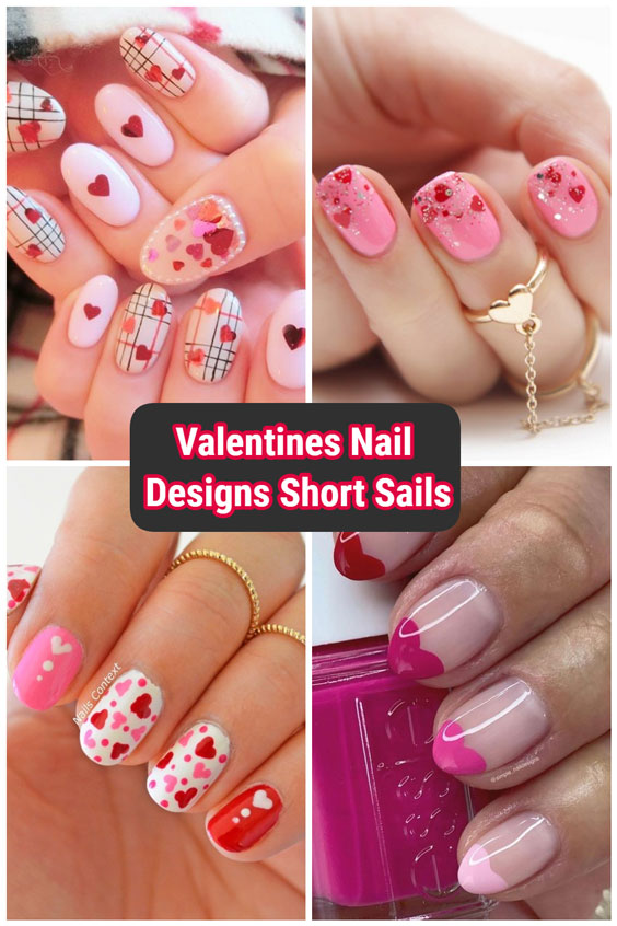 really cute nails design ideas for valentines nails