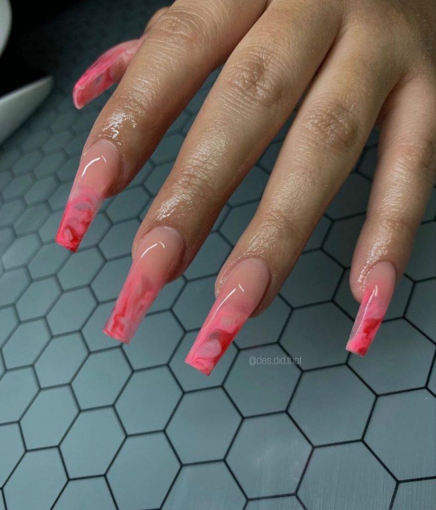 long acrylic nails designs